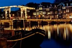 мост Skinner bridge Амстердам