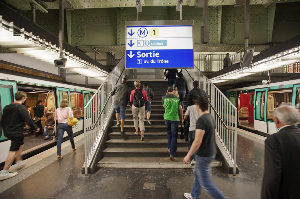 Paris12 ème - Signalétique de la  Station de métro Nation -