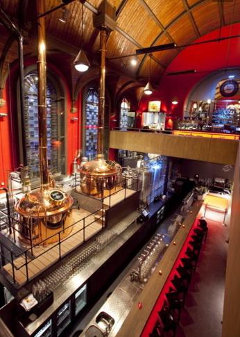 Пивоваренный завод в церкви.