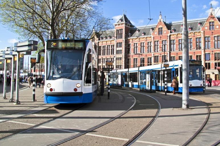 Трамвай Амстердам.
