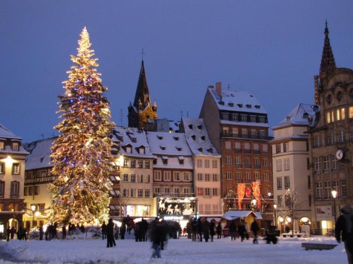Страсбург в Рождество.