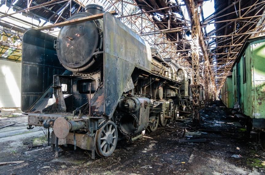 Кладбище забытых поездов.