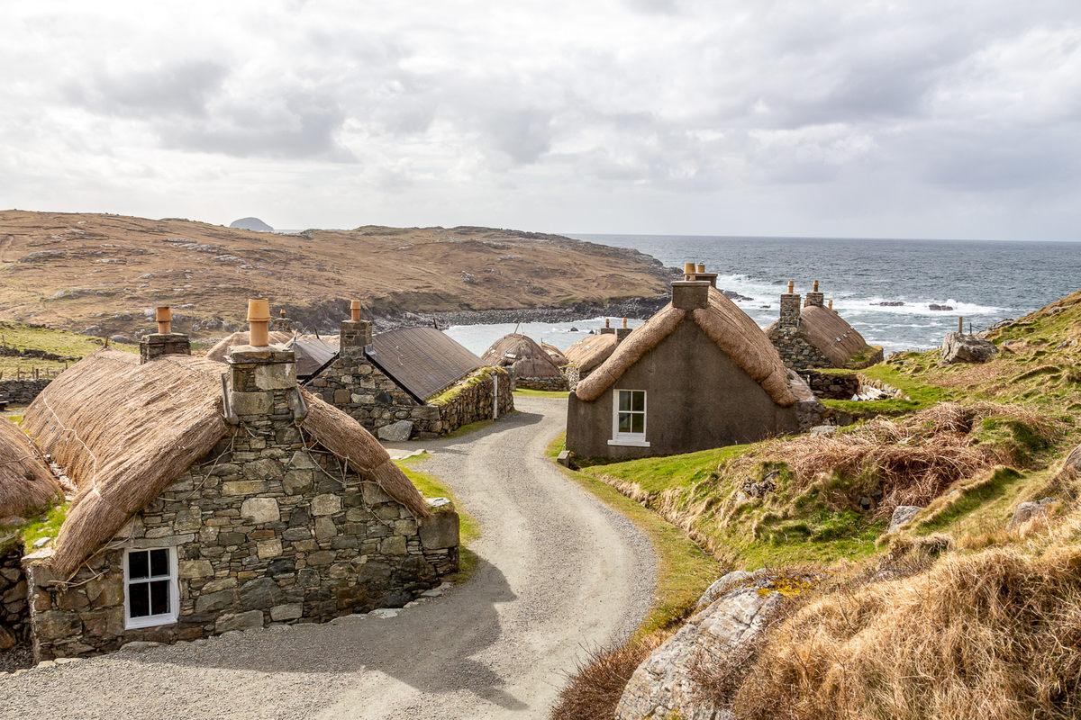 Черные дома. Шотландия.