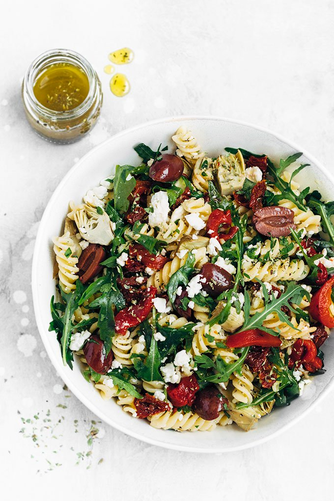 Средиземноморская диета. Салат с макаронами.